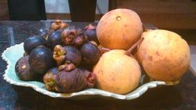 Тайская плита плодоовощей Стоковая Фотография