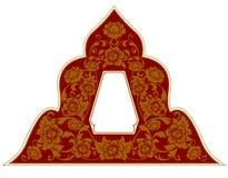 Тайская рамка орнамента Стоковое Изображение RF