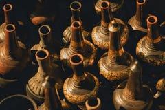 Тайская ручной работы ваза гончарни Стоковое Фото