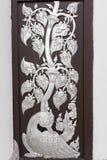 Тайская серебряная настенная роспись Стоковые Изображения RF