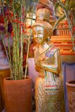 Тайская скульптура девушки Стоковые Фото