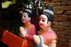Тайская скульптура девушки Стоковое фото RF