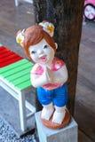 Тайская скульптура девушки Стоковые Изображения RF