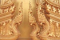 Тайская скульптура искусства наследия 3 nagas Стоковые Изображения