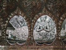 Тайская скульптура стены стиля Стоковые Фотографии RF