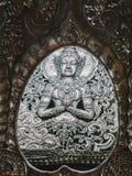 Тайская скульптура стены стиля Стоковые Изображения