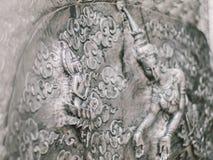 Тайская скульптура стены стиля Стоковое Изображение