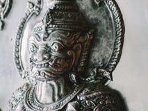 Тайская скульптура стены стиля Стоковое Фото