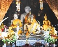 Тайская статуя Будды золотистая Стоковые Изображения