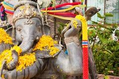 Тайская статуя слона бога Стоковая Фотография