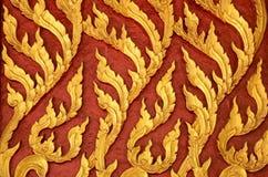 Тайская стена искусства Стоковая Фотография RF