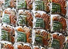 Тайская текстура искусства плитки Стоковая Фотография