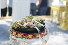 Тайская тема свадьбы Стоковые Изображения RF