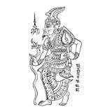 Тайская традиционная картина, татуировка Стоковое Изображение RF