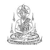Тайская традиционная картина, татуировка Стоковая Фотография