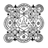Тайская традиционная картина, татуировка Стоковые Фотографии RF