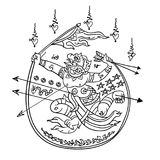 Тайская традиционная картина, татуировка Стоковые Фото