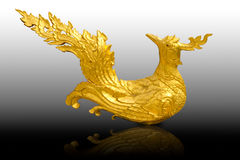 Тайская традиционная скульптура птицы Стоковое Изображение