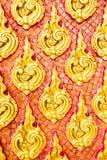 Тайская украшенная стена стиля Стоковая Фотография