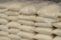 Тайская упаковка рисовых полей жасмина в полиэтиленовом пакете стоковое фото
