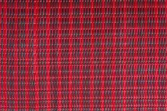 Тайская циновка Red&Black Стоковое Изображение