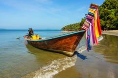 Тайская шлюпка длиннего кабеля стоковое фото