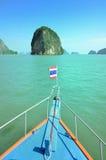 Шлюпка круиза тайская на море Andaman Таиланде Стоковое Изображение RF