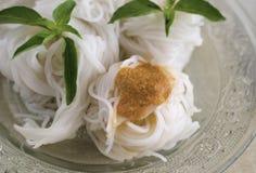 Тайские лапши еды Стоковые Изображения