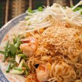 Тайские лапши стиля Стоковые Фото