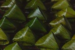 Тайские десерты испаренные в корзинах стоковая фотография