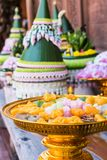 Тайские десерты служили на партии приема по случаю бракосочетания стоковое фото
