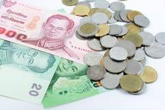 Тайские деньги Стоковое Изображение RF