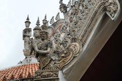 Тайские детали виска, Таиланд стоковые изображения