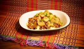 Тайские жареные рисы креветки ананаса Стоковое фото RF