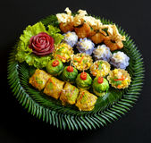Тайские закуски смешивания еды стоковое изображение