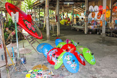 Тайские зонтики рисовой бумаги Стоковые Фото