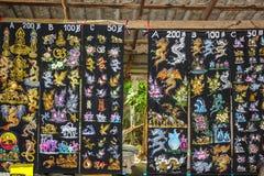 Тайские дизайны, центр ремесленничества зонтика Стоковые Фото