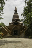 Тайские исторические здания в тайском виске стоковые изображения