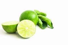 Тайские листья лимона и зеленого цвета Стоковая Фотография RF