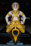 Тайские королевские баржи использованы в королевской семье во время шествия reliogius традиции к королевскому виску Таиланду Стоковое фото RF