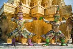 Тайские красочные Giants Стоковая Фотография