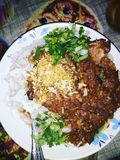 Тайские лапши риса стоковое изображение