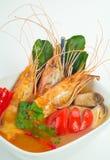 Тайские морепродукты Tom еды Yum стоковое изображение