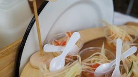 Тайские образцы салата папапайи видеоматериал
