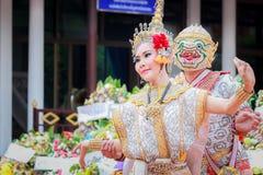Тайские похороны танцев Стоковые Фото