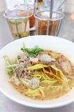Тайские пряные лапши Стоковая Фотография
