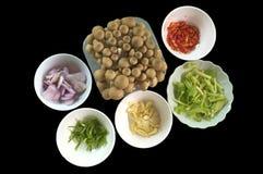 Тайские пряные ингридиенты салата Стоковое Изображение RF