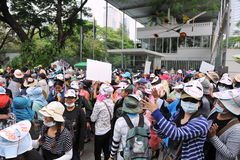 Протест работников Стоковые Изображения