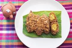 Тайские рецепты десерта Стоковые Фото