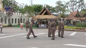 Тайские солдаты обеспечивают безопасность в праздничных событиях Бангкок